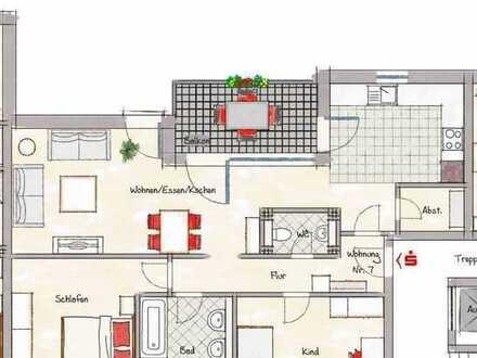 3 ZKB, ca. 82,84 m² im 2. OG Neubauprojekt mitten in der Nibelungenstadt