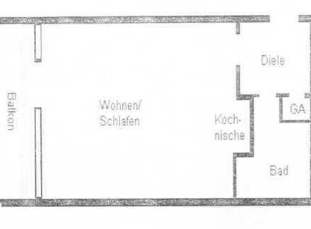 1 - Zimmer - Appartement mit Balkon im Kurgebiet von Bad Säckingen