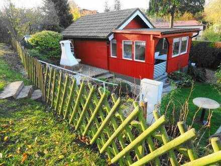 Grundstück im uckermärkischen Gerswalde mit hübschen Holzhaus , Bungalow und umbauten Wohnwagen