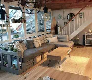Schöne 3,5-Zimmer-Maisonette-Wohnung mit Balkon und EBK in Bobenheim-Roxheim