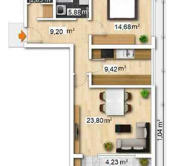Stilvolle 2-Zimmer-Wohnung mit Balkon direkt an der Dreisam