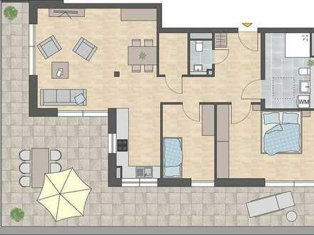 Seniorenwohnung. 3-Zimmer im Dachgeschoss