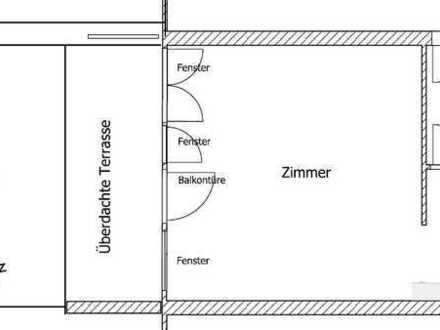 Exklusive und vollständig renovierte 1-Zimmer-Wohnung mit Terrasse und Kochnische in Stuttgart
