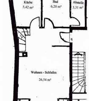 Gepflegte 1,5-Zimmer-Maisonette-Wohnung mit Einbauküche in Elmshorn