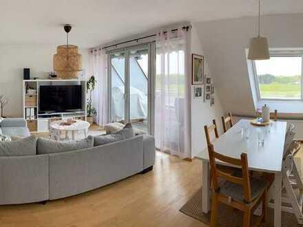 Sehr schöne Maisonette-Wohnung mit Blick auf Frankfurt