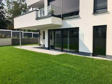 Erstbezug! Exklusive Erdgeschosswohnung mit eigenem Gartenanteil und Garage in Gürzenich