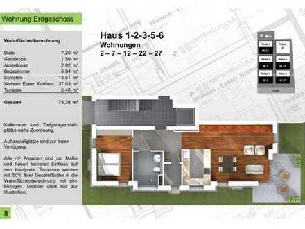 75,38qm 2 Zimmer Terrassenwohnung, No. 2