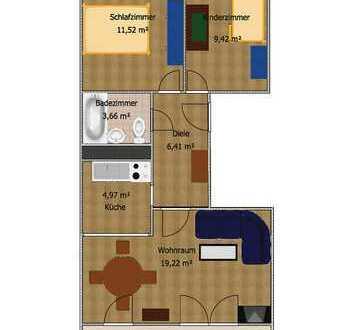 Bezahlbare 3-Raumwohnung in ruhiger Lage