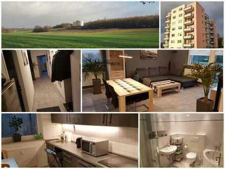 RESERVIERT / Stadtnah mit Blick ins Grüne - 3,5 Zimmer Wohnung mit zwei Balkonen