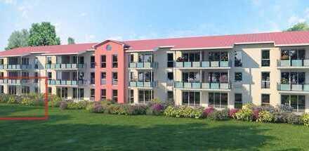 Exklusive, neuwertige 3-Zimmer-EG-Wohnung mit Terrasse und Einbauküche in Drachselsried