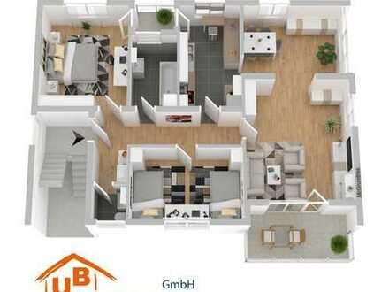 Ruhige 3,5 Zi. OG-Wohnung mit zwei Balkone - Allmersbach i.T.