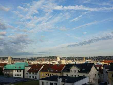 Heusteigviertel, helle 1-Zimmerwohnung mit Panoramablick über Stuttgart´s Innenstadt