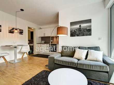 Neubauwohnung voll möbliert und ausgestattet inkl.. EBK, Terrasse: stilvolle 2-Zimmer-Wohnung