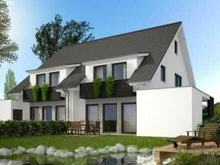 Top-Lage! moderne Doppelhaushäfte massiv und schlüsselfertig gebaut. Süd-West-Garten!