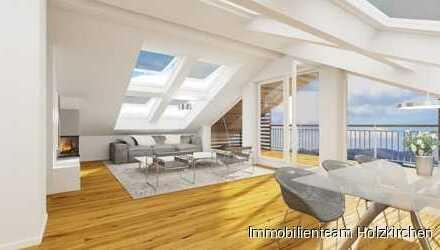 Traum 3-Zi DG-Wohnung, mit Loggia über die gesamte Hausbreite und Bergblick.