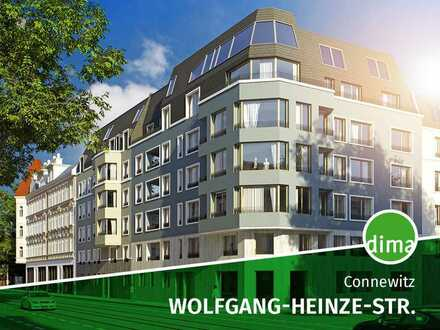 BAUBEGINN | Coole Neubau-Familienwohnung mit Vollbad, sonniger Westterrasse, Gartenanteil u.v.m.!