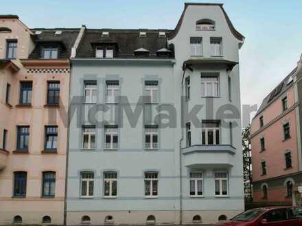 Gemütlich und gepflegt: 2-Zi.-ETW mit Balkon u. Pkw-Stellplatz in Zwickau-Pölbitz