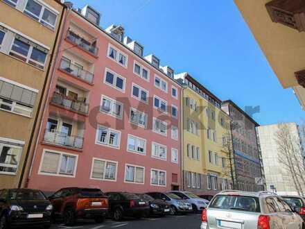 Zentral, gepflegt, geräumig: 3-Zi.-ETW mit Balkon zentral in Wöhrd