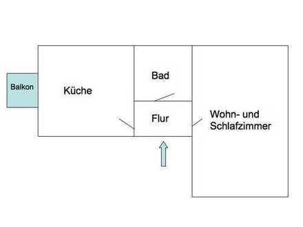 515 €, 45 m², 1 Zimmer