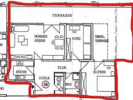 Gepflegte 3-Zimmer-Penthouse-Wohnung mit Balkon und Einbauküche in Böblingen-Dagersheim