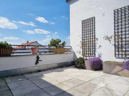 Zuhause in Haunstetten-Süd. 4-Zimmer-Maisonette, ca. 127 m², mit Dachterrasse, Gartenanteil + TG