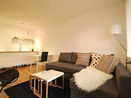 **Komplett saniert & möbliert** Modernes Appartement mit Balkon & TG-Stellplatz in SWR-Nähe!!!