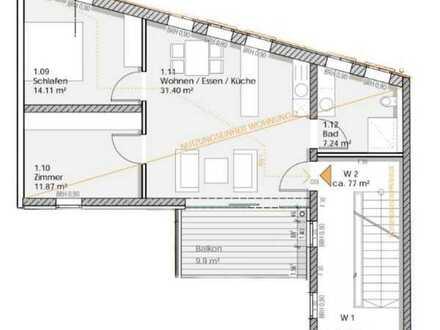 Erstbezug - 2,5 Raumwohnung im Herzen von Eisfeld