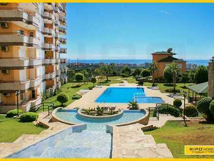 Sehr großes Apartment (150m2) in Mahmutlar-Alanya in ein ruhiger Rückzugsort mit Panoramablick!