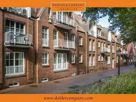 Emden-Stadtzentrum: Erdgeschosswohnung mit Blick auf den Emder Wall
