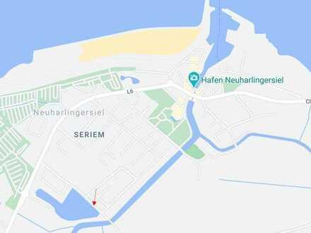 RESERVIERT: 3 x Wasser: Seegrundstück + Neuharlinger Sieltief + Nähe zur Nordsee