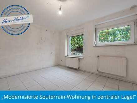 Modernisierte Souterrain-Wohnung in zentraler Lage!
