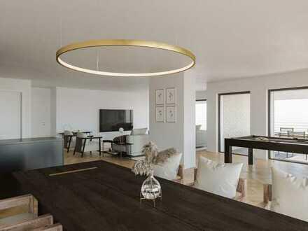 184 m² Wohnfläche mit 47 m² Dachterrasse und Süd-West-Loggia!