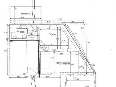Gepflegte 2-Zimmer-Wohnung mit Carport, Terrasse und Garten