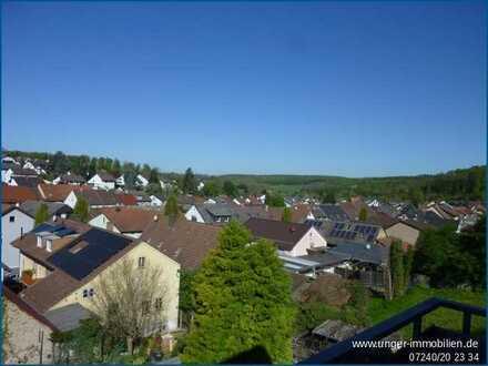 4-Zimmer Dachgeschosswohnung mit Dachterrasse in Pfinztal-Wöschbach!