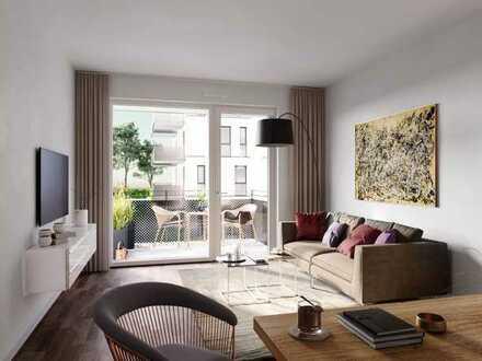 PANDION VILLE 3.BA - Helle 2-Zimmer-Wohnung mit Tageslichtbad und Balkon