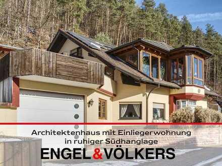 Architektenhaus mit Einliegerwohnung in ruhiger Südhanglage