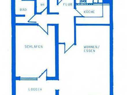 Gepflegte 2-Raum-Hochparterre-Wohnung mit Balkon und Einbauküche in Hemmingen