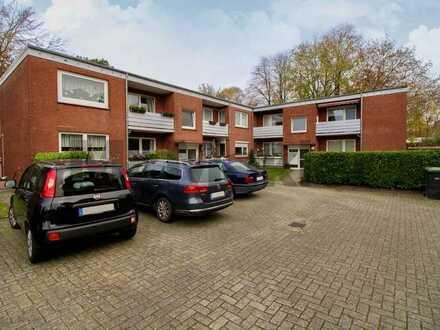 Attraktive 3-Zi.-Erdgeschosswohnung mit Balkon,Stellplatz u. Gartenmitnutzung im ruhigen Deichhorst
