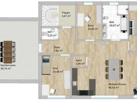 Erstbezug: Exklusive 4-Zimmer-Wohnung mit Dachterrasse