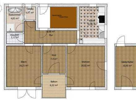 Gepflegte 3-Zimmer-Wohnung mit freiem Blick auf das Tettnanger Schloss