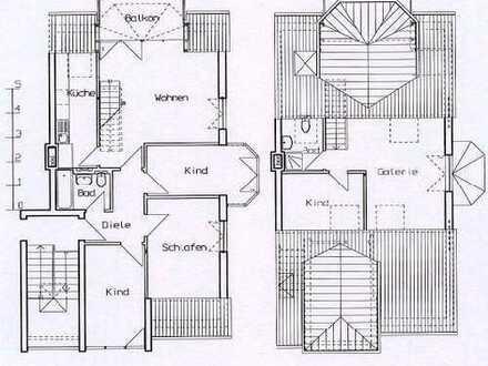 familienfreundliche 5 Maisonettewohnung mit Dachterrasse in bester Lage
