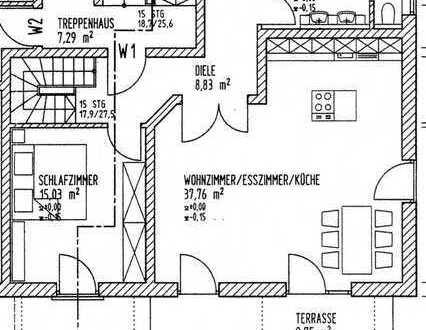 Neuwertige 3-Zimmer-Wohnung über 2 Etagen, mit Terrasse und Einbauküche in Manching