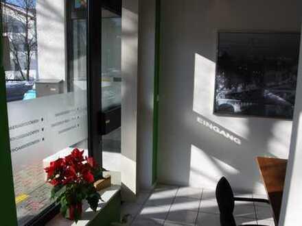 Erdgeschoss: Vermietetes Büro in Bad Wörishofen.
