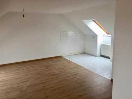 ERSTBEZUG! 2-Zi. -Etagenwohnung im Dach, neu renoviert, Gäste-WC, Balkonaustritt, Natur