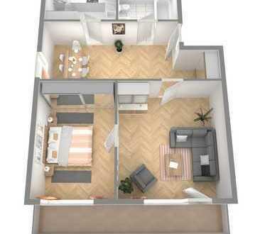 RESERVIERT!! Schnuckelige 3 ZKB Wohnung mit Balkon in Groß-Rohrheim