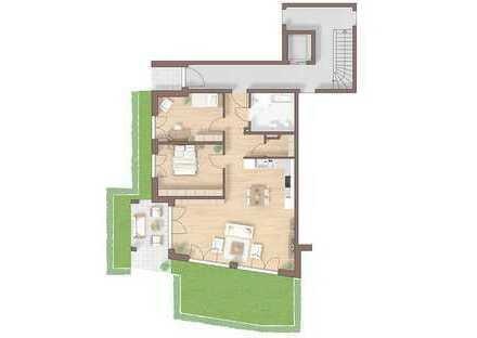 großzügige 3 Zimmer Terrassenwohung mit viel Grün (15)