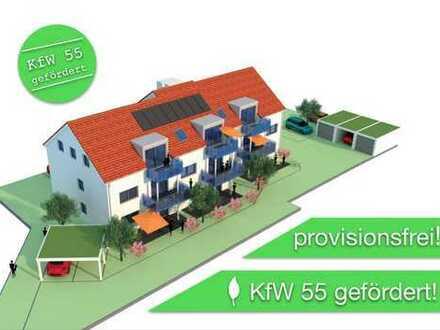 Neubau 9-WE Mehrfamilienhaus: 4-Zimmer-EG-Wohnung mit Terrasse in Kirchheim (Schwaben)