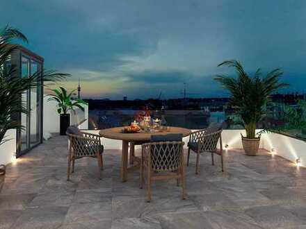Luxuriös und sympathisch! Ihr Zuhause im 3-Zimmer Penthouse mit sonniger Dachterrasse und Balkon