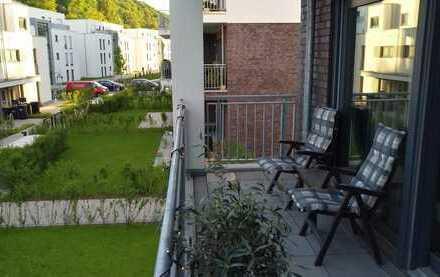 Exklusive 3-Zimmer-Wohnung, Balkon mit Ruhrblick