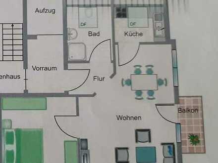 2-Zimmer-Wohnung mit kleinem Balkon und Einbauküche in Mössingen